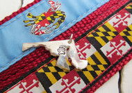 Unique Maryland State Charms with Paw Print by Tracy Menz Designs