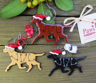 Ornaments Available in Yellow, Chocolate and Black Labradors