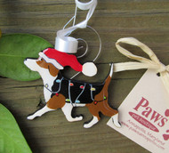 Prancing Beagle Christmas Ornament