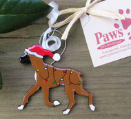 Hand-painted Boxer Holiday Ornaments made in USA