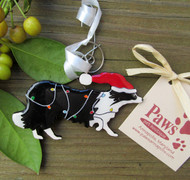 Border Collie Holiday Ornaments made in USA
