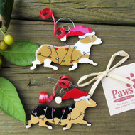 Adorable Pembroke Ornaments Hand-painted in USA.