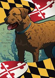Cheapeake Bay Retriever Maryland Dog Flag