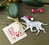 Cheery Christmas Dalmatian Ornaments made in USA.