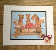 Airedales and Crabs Dog Print