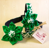 Shamrock Cute Dog Collars with Flowers