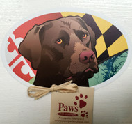 Chocolate Lab Maryland Flag Magnets