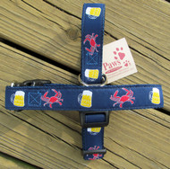 Crabs and Beer Dog Collar