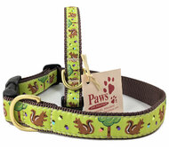 Nuts for Squirrel Dog Collar made in USA