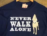Never Walk Along Shirt in Navy Blue