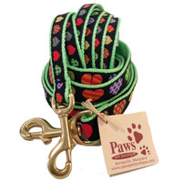 Colorful Heart Dog Leashes made in USA