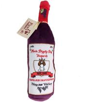 Cavalier Sauvignon Plush Wine Bottle Dog Toy