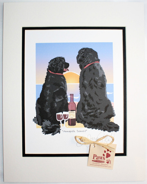 Newfoundland Art, Dogs and Wine