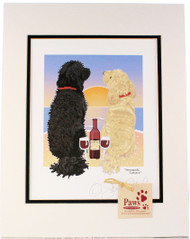 Doodles and Wine Sunset Print
