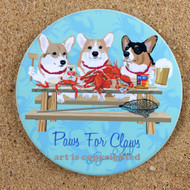 A Trio of Corgis Coaster