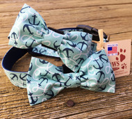 Anchor Bow Tie Dog Collars