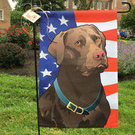 Stars and Stripes Chocolate Lab Flag