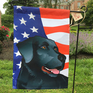 All American Black Lab Flag