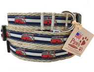 Striped Red Van Dog Collars