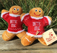 Fun Holiday Dog Toys! 2 Gingerbread Mean Shown Here.