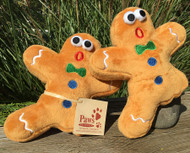 Gingerbread Man Dog Toy with Missing Leg