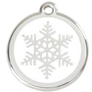 Stainless Steel Snowflake Pet Collar Tag