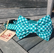 Jade Green Bow Tie Dog Collar