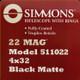 Simmons - 22 Mag 4x32 Black Matte w/ Rings