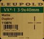 Leupold - VX-1 - 3-9x40mm - Matte - Duplex