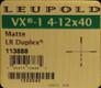 Leupold - VX-1 - 4-12x40mm - Matte - LR Duplex