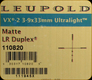Leupold - VX-2 Ultralight - 3-9x33mm - Matte - LR Duplex