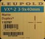 Leupold - VX-2 - 3-9x40mm - Matte - Duplex
