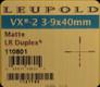 Leupold - VX-2 - 3-9x40mm - Matte - LR Duplex