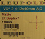 Leupold - VX-2 - 4-12x40mm - Matte - LR Duplex Ajd. Obj.