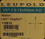 Leupold - VX-2 - 6-18x40mm - Matte - LRV Duplex Adj. Obj.