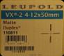Leupold - VX-2 - 4-12x50mm - Matte - Duplex