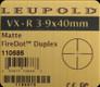 Leupold - VX-R - 3-9x40mm - Matte - Fire Dot Duplex