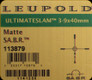 Leupold - Ultimate Slam - 3-9x40mm - Matte - SA.B.R.