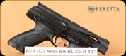 Beretta - U22 Neos - 22LR - Black/Blued, (2)10 rd mags, 4.5""
