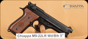 Chiappa - M9 - 22LR - Wd/Blk, 2 mags, 5""