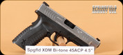 """Springfield - XDM - 45ACP - Blk/SS Bi-tone, 4.5"""""""