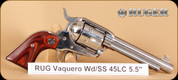 """Ruger - Vaquero Small Frame - 45LC - Wd/SS, 5.5"""""""