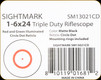 Sightmark - 1-6x24 - Triple Duty Riflescope - Matte - Red/Grn illuminated Circle Dot