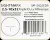 Sightmark - 2.5-10x32 - Triple Duty Riflescope - Matte - Red/Grn illuminated Circle Dot Duplex