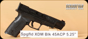 "Springfield - XDM - 45ACP - Competition, Blk, Lightning cut out on slide, 5.25"", XDM Gear System"