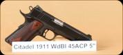 """Citadel - 1911 - 45ACP - Wd/Bl, 2 mags, 5"""""""