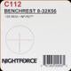 NIGHTFORCE - NF - 8-32x56 - .125 MOA - NP-R2 - C112
