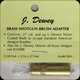 Dewey Brass Brush Adapter - .27-and up to accept shotgun brush, also fits shotgun rod