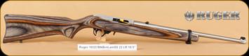 "Ruger - 10/22 - 22LR - Standard Carbine, BlkBrnLamSS, 18.5"""