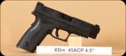 "Springfield - XDM - 45ACP - Blk, 10/13 rd magazine, 4.5"""